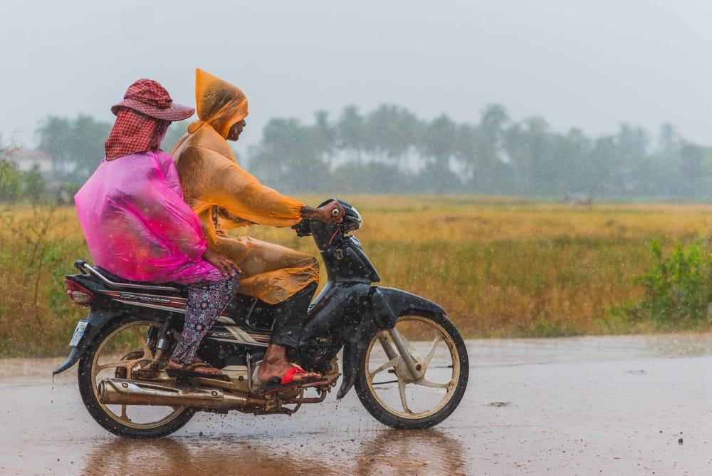 Pluie au Cambodge
