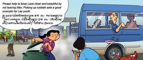 Ne polluez pas le Laos