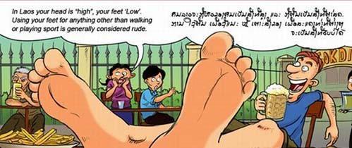 Attention les pieds