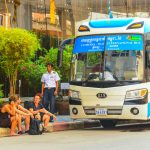 Compagnie de bus au Cambodge