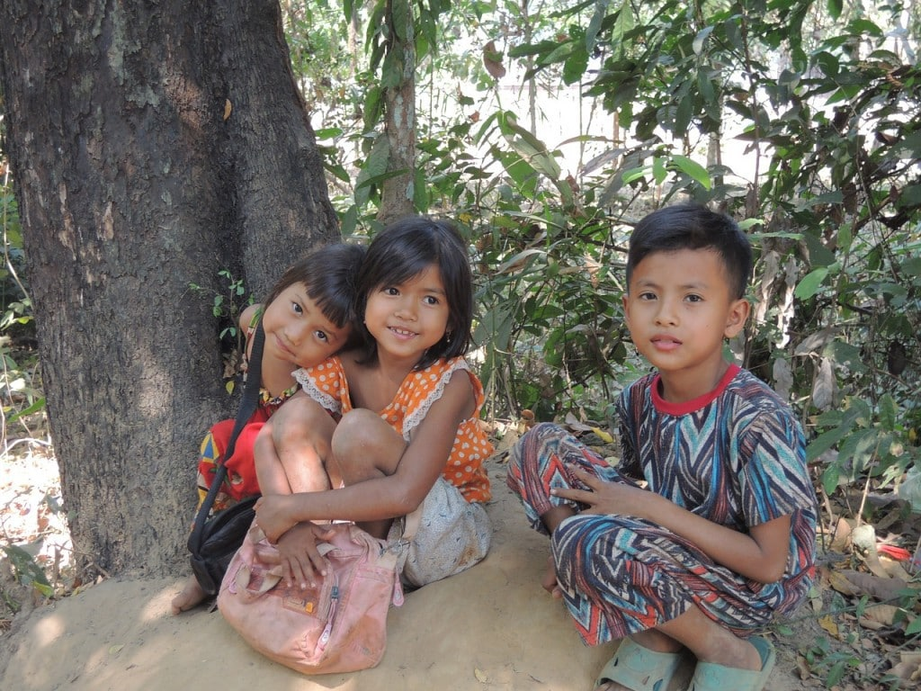 Enfants au Cambodge