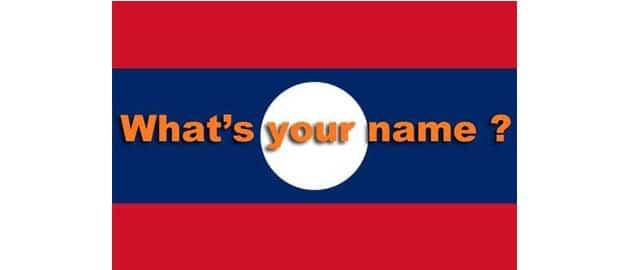 Prénom lao