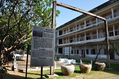 Poteau musée Tuol Sleng