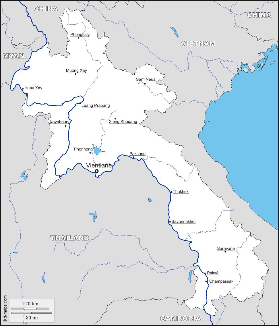 carte-laos-principales-villes