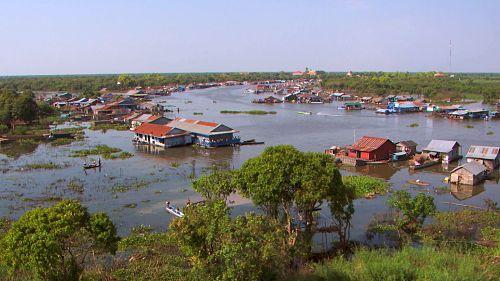 Village flottant du Tonlé Sap
