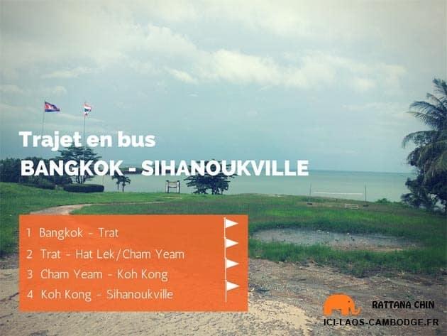 J'ai testé le trajet Bangkok – Sihanoukville en bus en 4 étapes