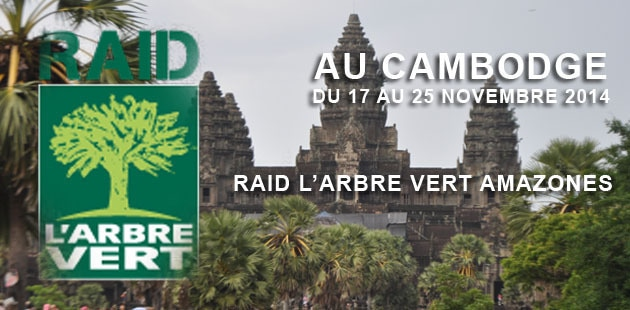 Raid l'arbre vert amazones 2014 au Cambodge