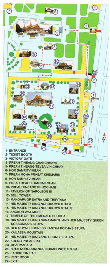 Plan Palais royal Phnom Penh