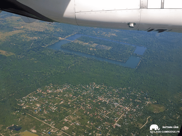 Vue aérienne Angkor