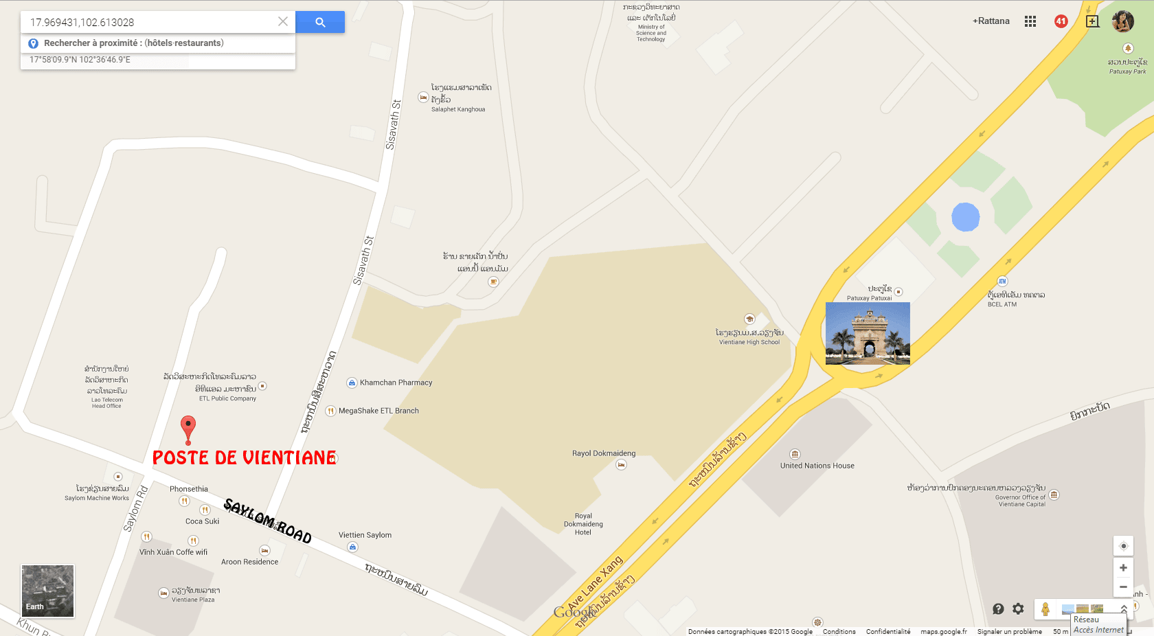 Plan Poste Vientiane