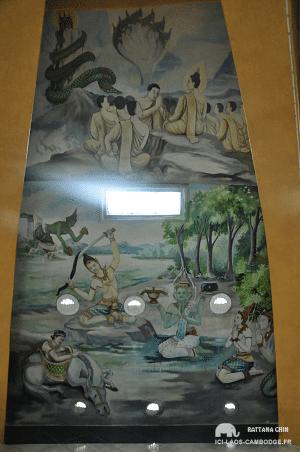 Wat Pah phon Phao - Peinture