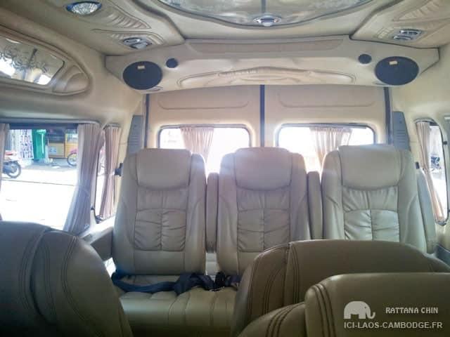 Sièges cuir van Mekong Express