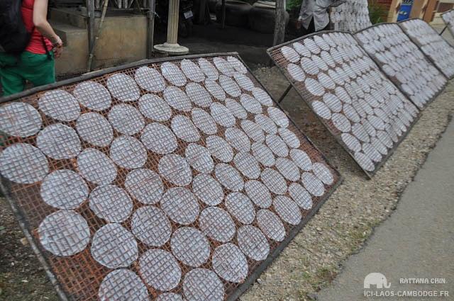 Galettes de riz à sécher