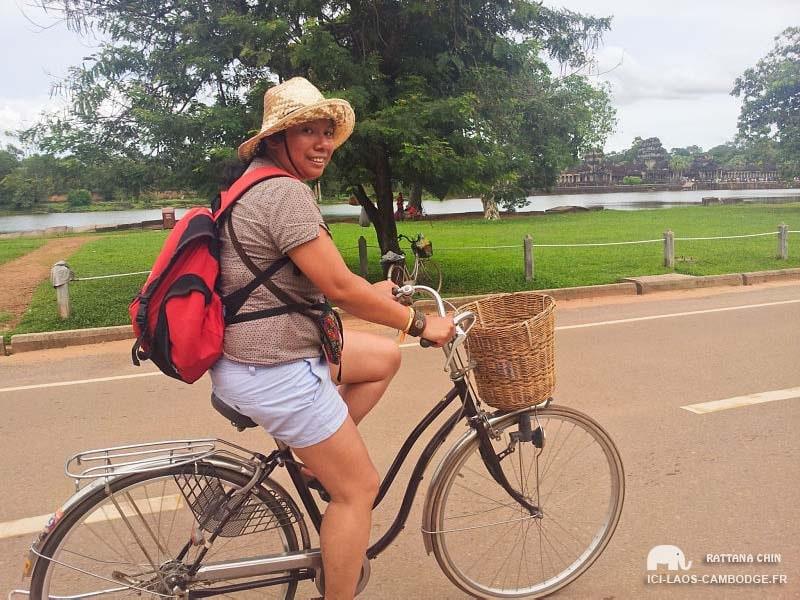 Vélo à Angkor