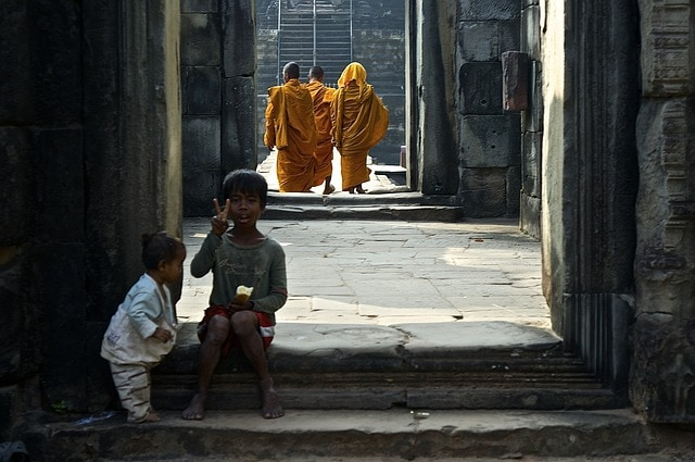 Temple Angkor enfants