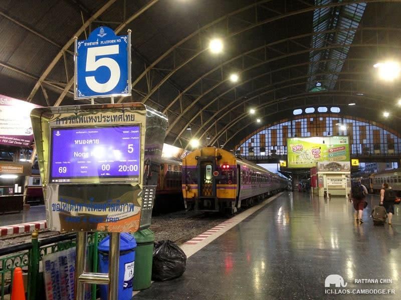 Bangkok – Nong Khaï «by night» en train