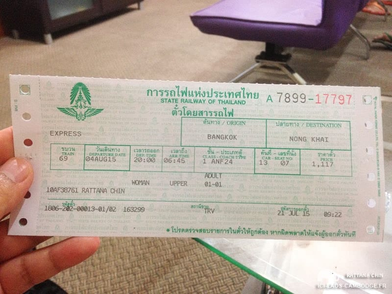 Ticket train Bangkok