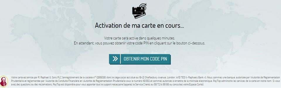 Activer carte Paytop 4