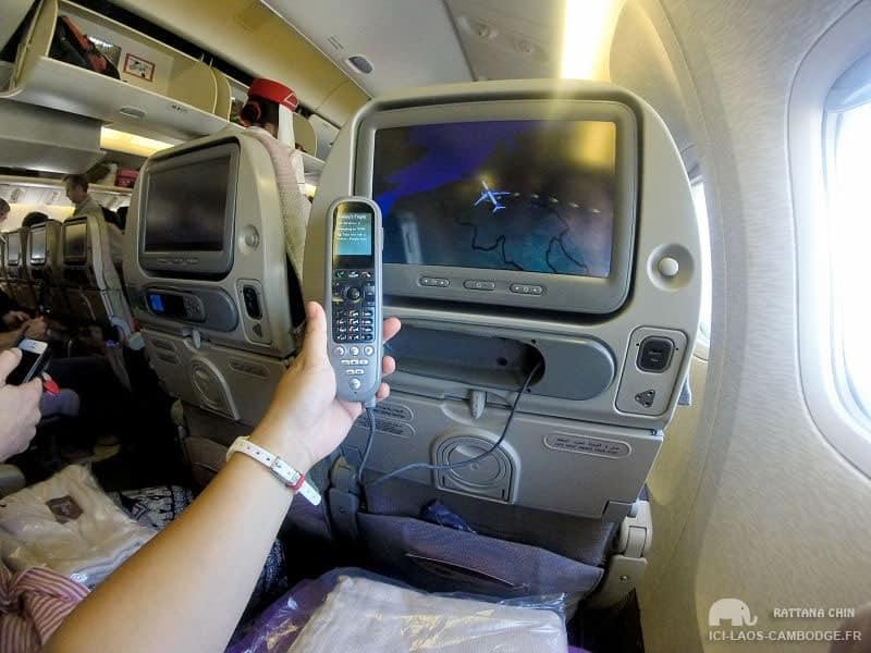 Ecran Emirates Boeing 777