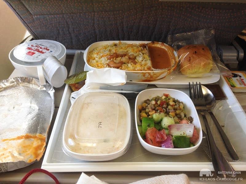 Menu végératrien Emirates
