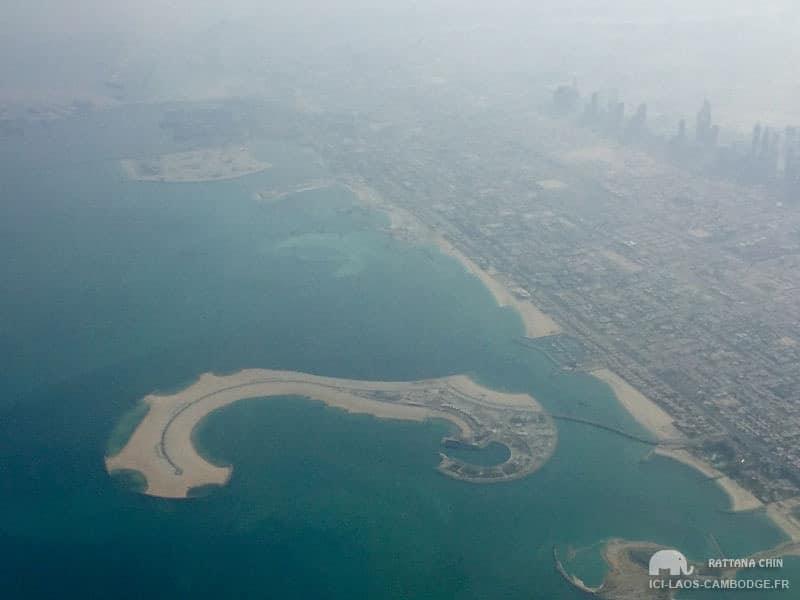Vue aérienne Dubaï