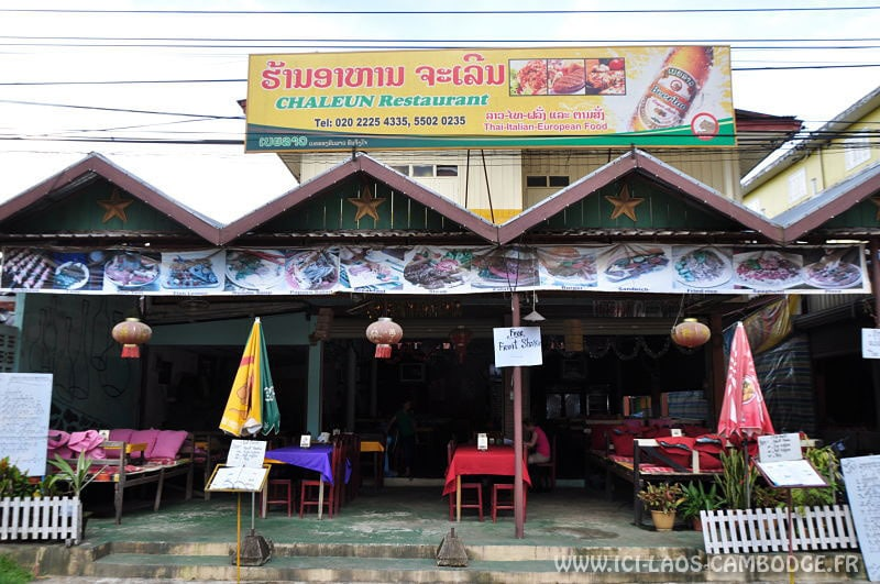 Visiter Vang Vieng: Chaleun restaurant Vang Vieng
