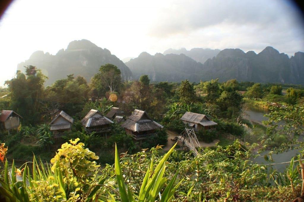 Cabanes au Laos
