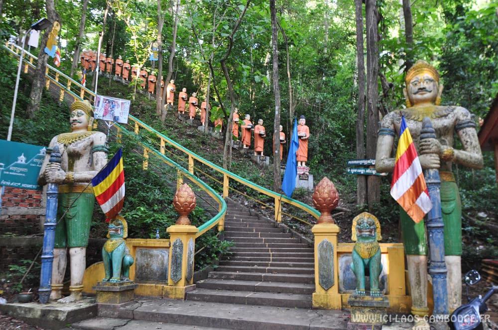 Escalier à Phnom Sambok