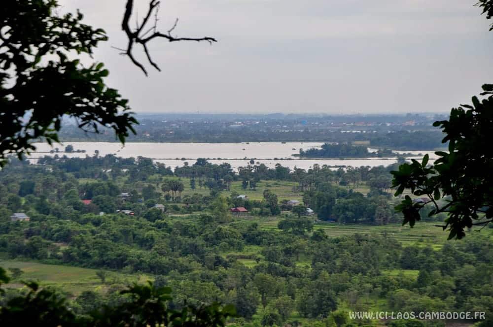 Vue sur le Mékong de Phnom Sambok
