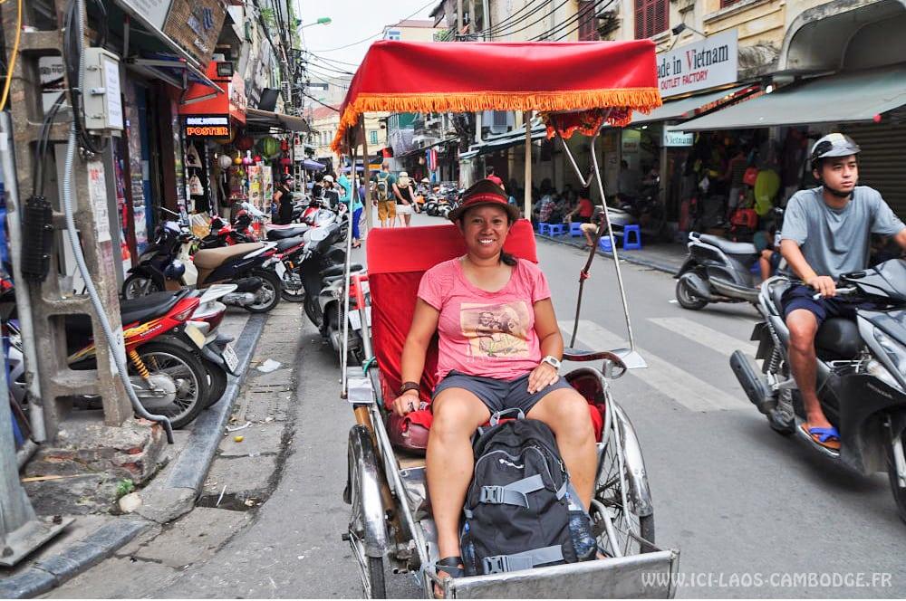 Cyclo-pousse Hanoï Rattana