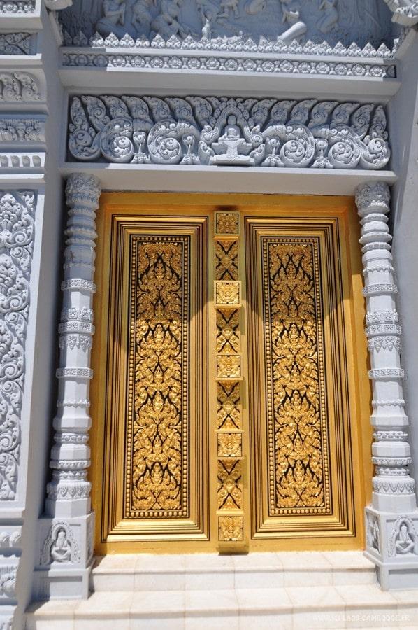 Porte Stupa Blanc