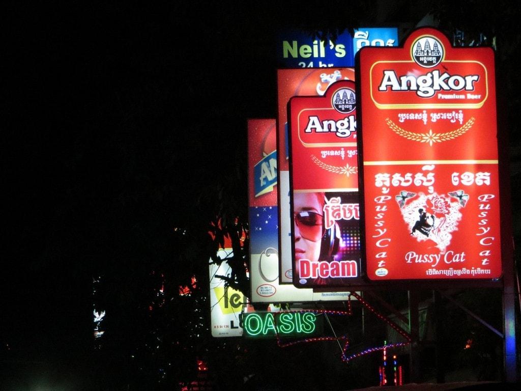 Néon à Phnom Penh