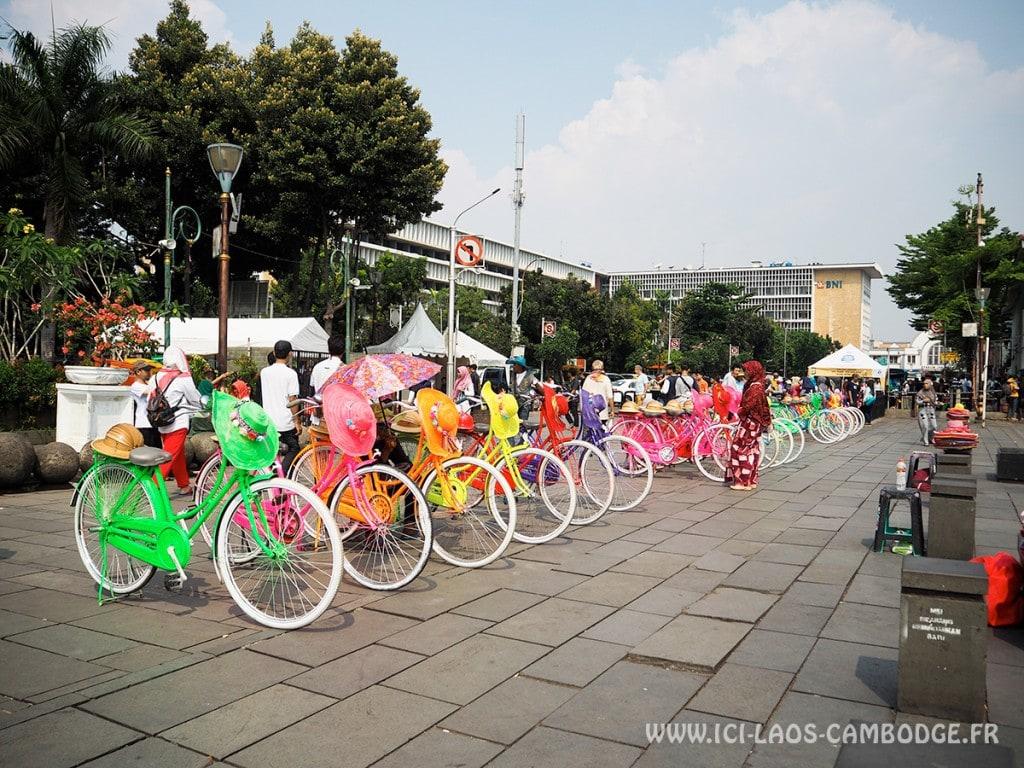 Faire du vélo à Jakarta