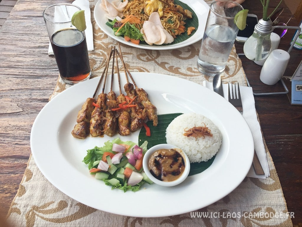 Visiter l'Indonésie - Brochette Satay au poulet