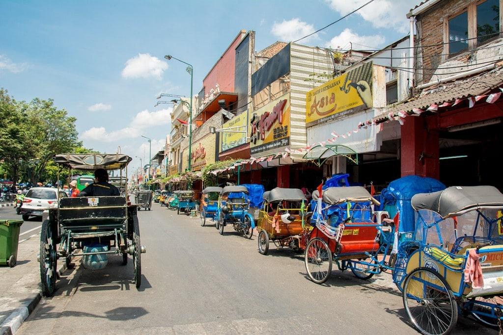 Que faire à Yogyakarta - Rue Yogyakarta