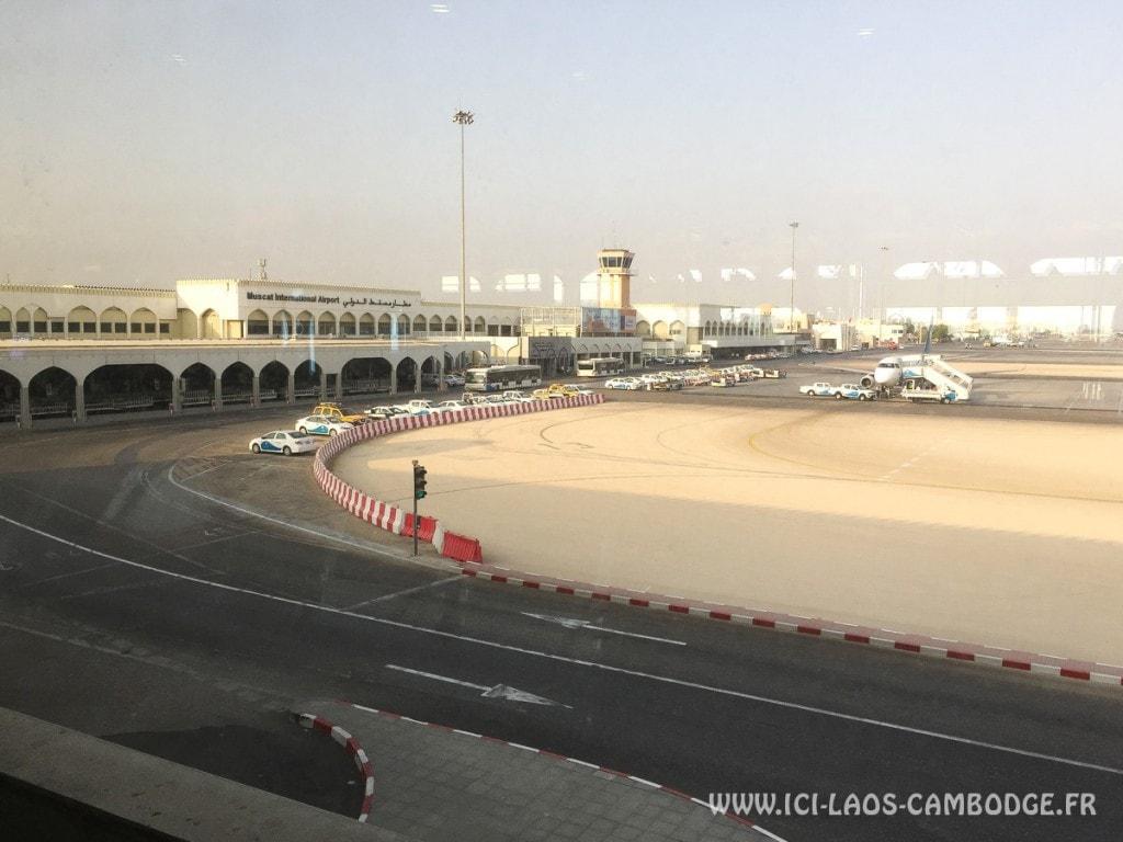 Vue aéroport Mascate