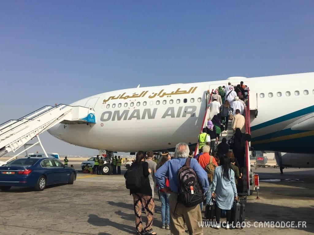 Départ vol Oman Air