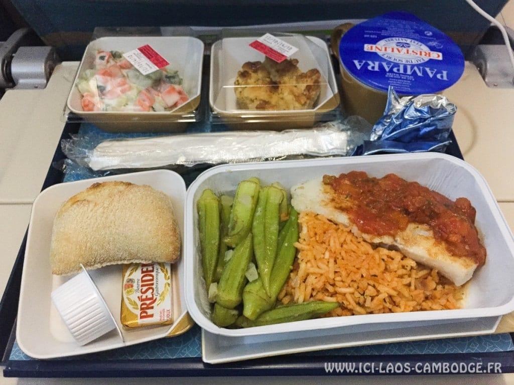 Repas vol Oman Air