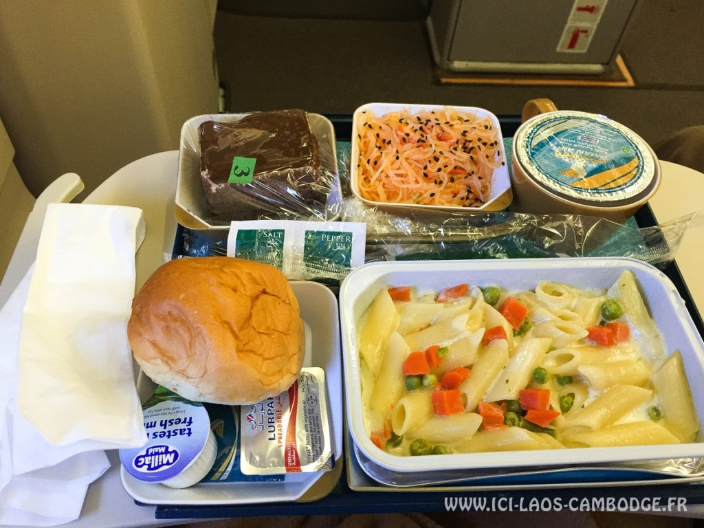 Repas végétarien vol Oman Air