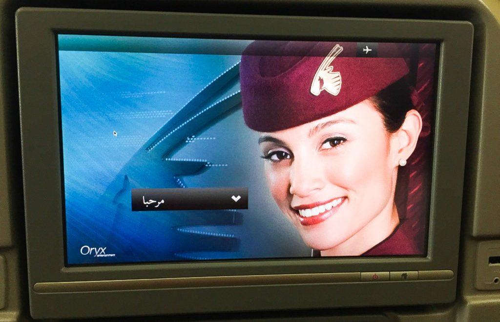 Ecran Qatar Airways