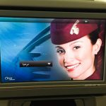 Ecran Qatar Airways