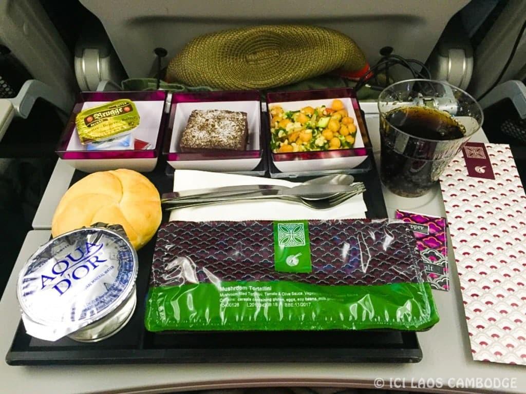 Repas Hindou Qatar Airways