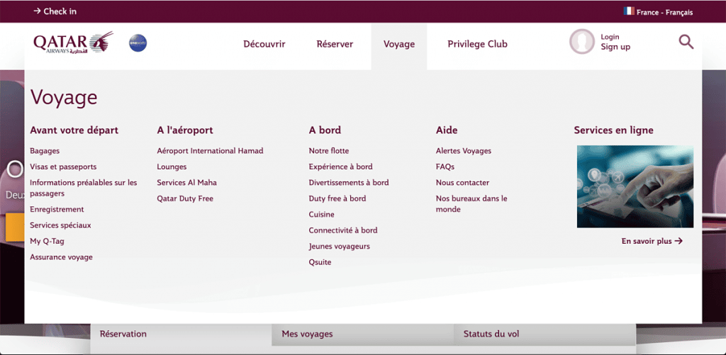 Site Qatar Airways