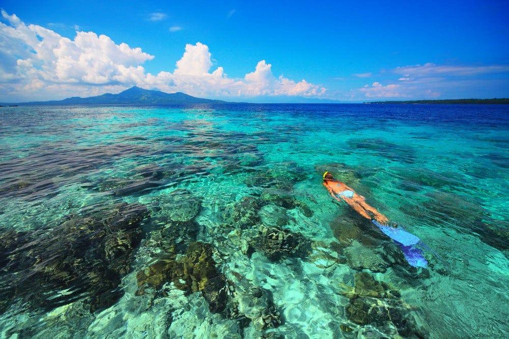 Snorkeling Bukanen Island Indonesia