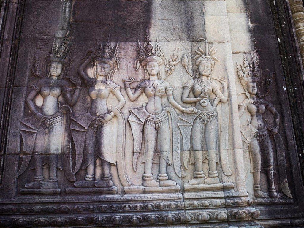Visiter les temples d'Angkor - Apsaras Angkor Wat