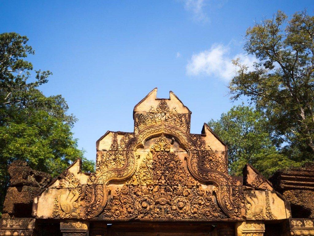 Banteay Srei aux couleurs de l'après midi