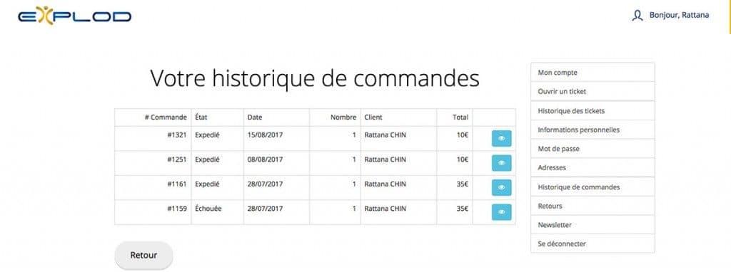Commandes et recharges - Carte sim internationale Explod