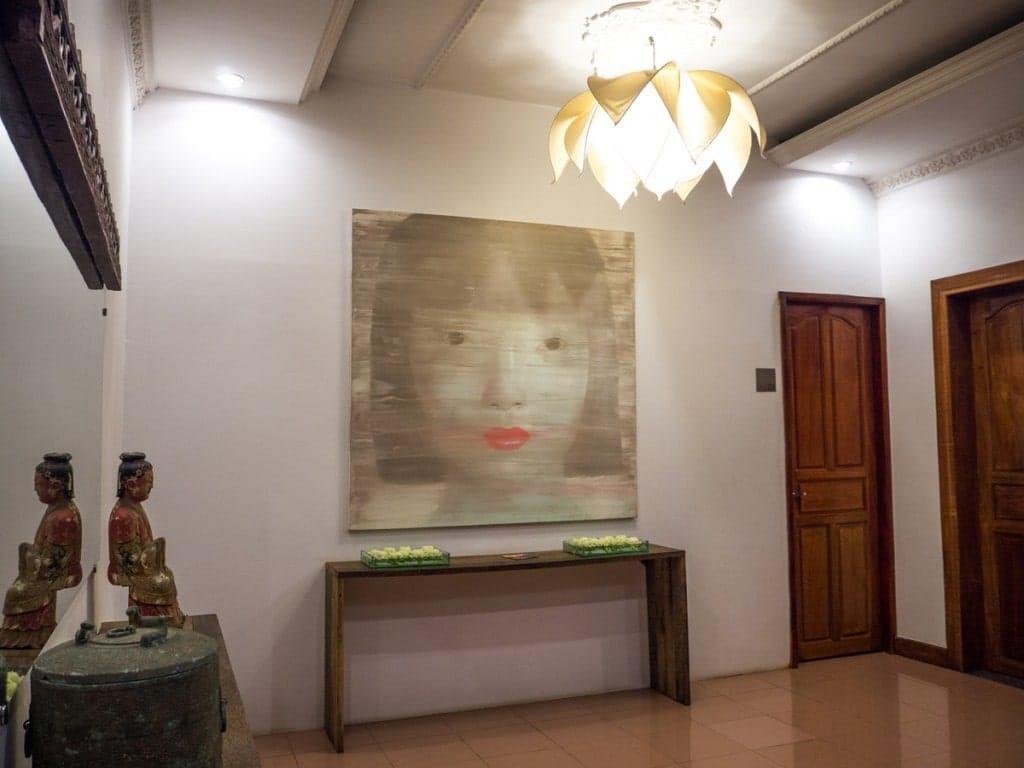 Un des couloirs de l'hôtel Pavilion