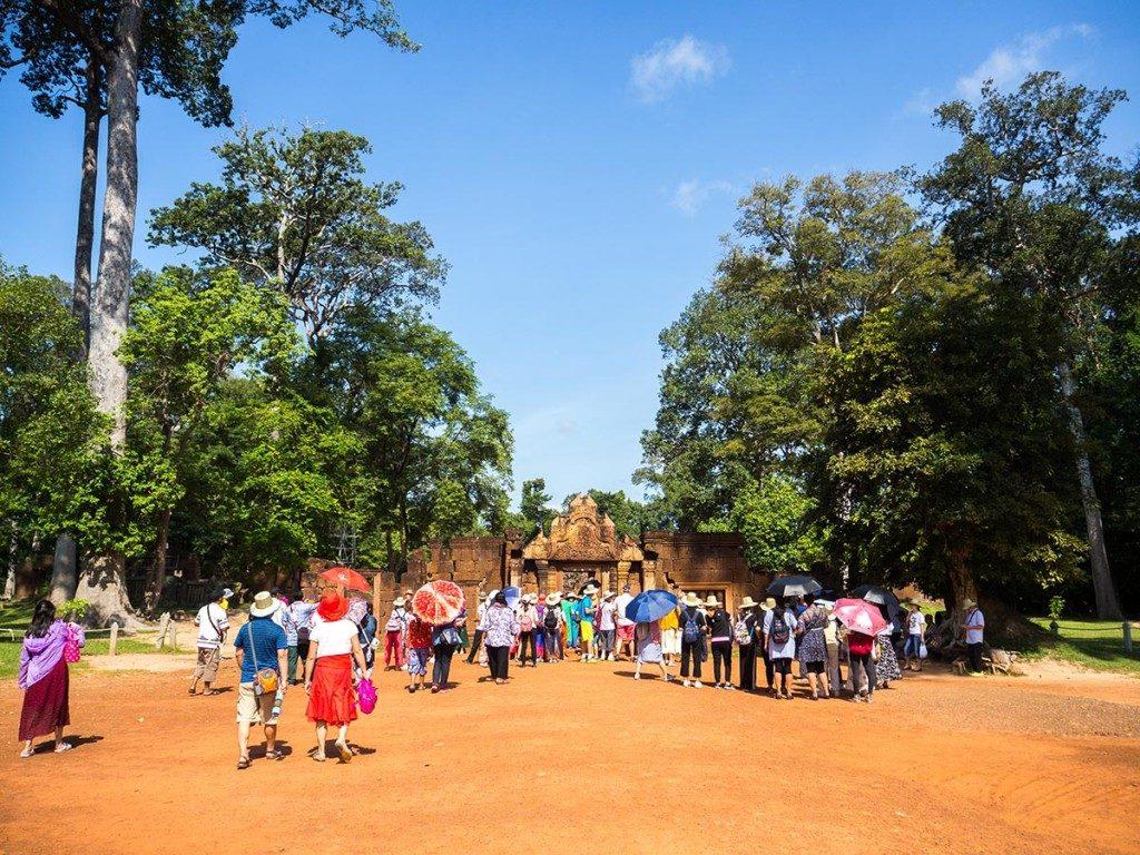 Arrivée des touristes Banteay Srei