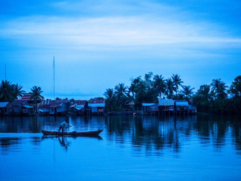 Heure bleue à Kampot